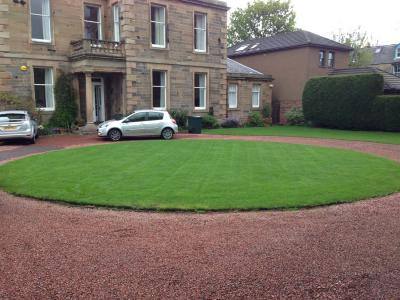 A Customer's lawn which is treated by the GreenThumb Edinburgh Team.