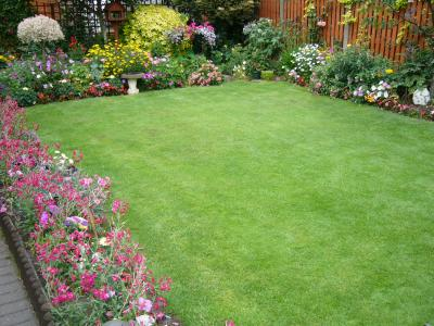 A great example a small lawn